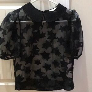 New without tags sheer star blouse